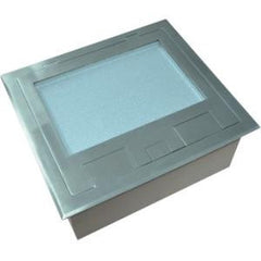 Cableaway FLOOR BOX SS RECESSED 2 POWER 4 DATA