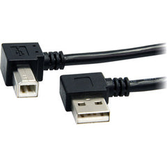 STARTECH 3 ft USB A to B Right Angle USB Cable