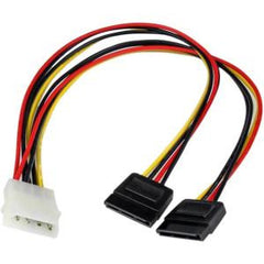 STARTECH 12 LP4 to 2x SATA Power Y Cable Adapter