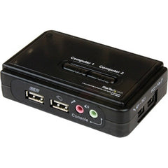 STARTECH 2 Port USB KVM Switch w/ Audio & Cables