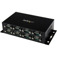 STARTECH 8 Port USB to DB9 RS232 Serial Adapter Hub Industrial DINRail and Wall Mountable - USB to RS 232 Serial Adapter 8-Port - USB to Serial Converter