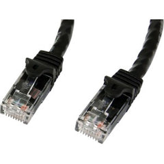 STARTECH 0.5m Black Snagless Cat6 UTP Patch Cable