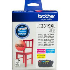 BROTHER LC3319XL3PK HIGH YIELD 4500 PAGES