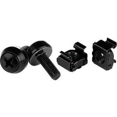 STARTECH M5 Screws & Cage Nuts - 50 Pack Black