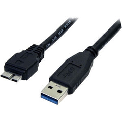 STARTECH 0.5m 1.5ft Black USB 3.0 Micro B Cable