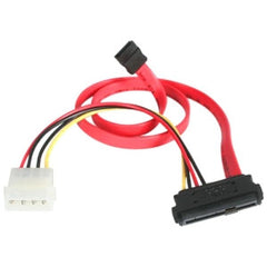STARTECH 18in SAS 29 Pin to SATA Cable with LP4 Power - 18in SAS 29 pin to SATA Cable - 18in SFF 8482 to SATA