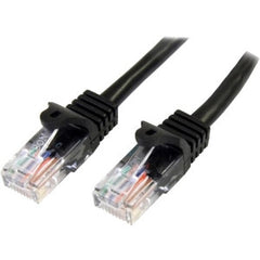 STARTECH 2m Black Snagless UTP Cat5e Patch Cable