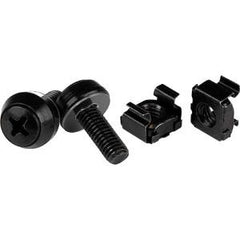 STARTECH M6 Screws & Cage Nuts - 50 Pack Black