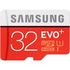 SAMSUNG MICRO SD 32GB EVO PLUS/W ADAPTER 80MB/S 10 YEARS LIMITED WARRANTY