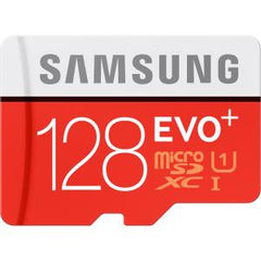SAMSUNG MICRO SD 128GB EVO PLUS/W ADAPTER 80MB/S 10 YEARS LIMITED WARRANTY