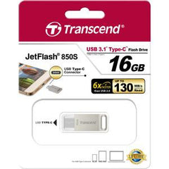 TRANSCEND 16GB JETFLASH 850 SILVER PLATING
