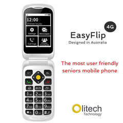 Olitech Easy Flip 4G Seniors Phone Big Buttons GPS Location