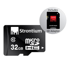 STRONTIUM TECHNOLOGY 32GB MICRO SD CLASS 10 WITH ADAPTOR - FLASH CARD