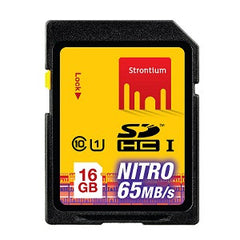 STRONTIUM TECHNOLOGY 16GB NITRO SD Card UHS-1 433X Speed