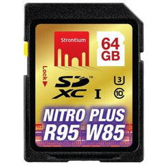STRONTIUM TECHNOLOGY 64GB Nitro Plus SD Card