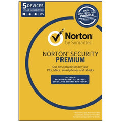SYMANTEC NORT SEC PREM 3.0 25GB 5 DEV 1YR MM