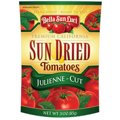 Bella Sun Luci Sun Dried Tomato Julienne Cut 3 oz (Resealable Pouch)