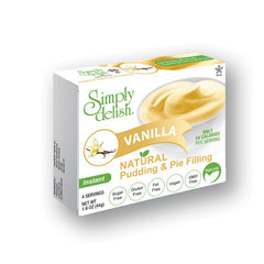 Simply delish Natural Vanilla Pudding Dessert, Sugar free, 1.6 oz
