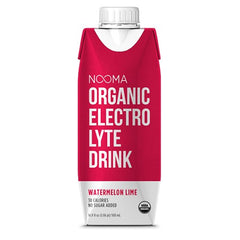 NOOMA Organic Electrolyte Drink - Watermelon Lime, 16.9 oz, Pack of 12