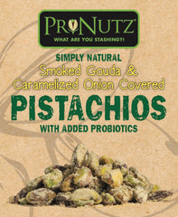 5 Pack Pronutz Smoked Gouda Seasoned Pistachios With Added Probiotics