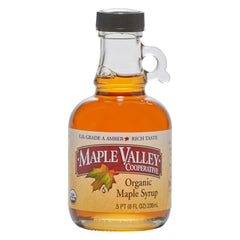Maple Valley 8 oz Grade A Amber & Rich Organic Maple Syrup - 6 Pack