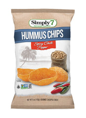 Simply7 Hummus Chips Spicy Chili Pepper - 5oz