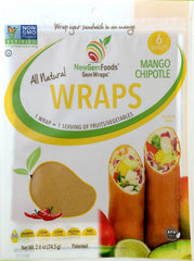 Mango Chipotle GemWraps - Sandwich wraps made from Mango.  Wrap your sandwich in a mango! 6 GemWraps in pkg.