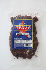 Jerry's Texas Jerky Black Pepper 3oz.,NON GMO, GLUTEN-FREE
