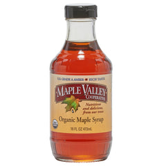 Maple Valley 16 oz Grade A Amber & Rich Organic Maple Syrup - 6 PACK