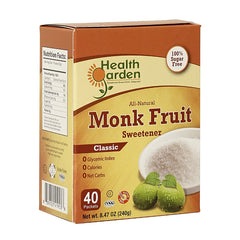 Health Garden Monk Fruit Classic Sweetener 40 Packets 4 pack