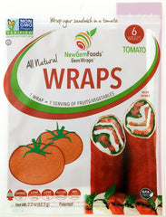 Tomato GemWraps - Sandwich wraps made from Tomatoes.  Wrap your sandwich in a tomato! 6 GemWraps in pkg.