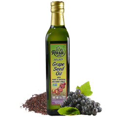 De La Rosa Real Foods & Vineyards - Kosher Non-GMO Vegan Grape Seed Oil - 16.9 oz/500 ml
