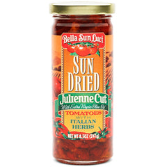 Julienne Cut Sun Dried Tomatoes in Olive Oil with Italian Herbs - 8.5 oz.