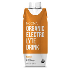 NOOMA Organic Electrolyte Drink - Mango, 16.9 oz, Pack of 12