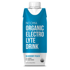 NOOMA Organic Electrolyte Drink - Blueberry Peach, 16.9 oz, Pack of 12