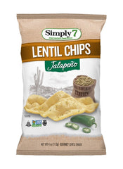 Simply7 Lentil Chips Jalapeno - 4oz