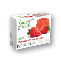 Simply Delish Natural Strawberry Jel Dessert, Sugar free, 0.7 oz