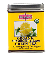 Organic Chamomile Lemon Green Tea, 50 bags