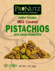 Pronutz BBQ Seasoned Pistachos With Added Probiotics