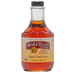 Maple Valley 32 oz Grade A Amber & Rich Organic Maple Syrup - 6 PACK