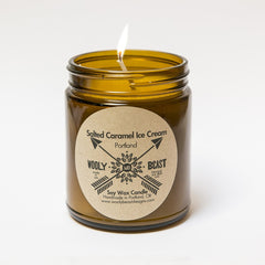 Salted Caramel Ice Cream Soy Candle by Wooly Beast Naturals