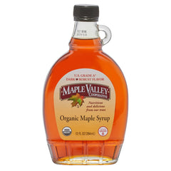 Maple Valley 12 oz Grade A Dark & Robust Organic Maple Syrup -6 PACK