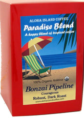 Aloha Island Coffee, Paradise Blend, Bonzai Pipeline 18 ct. Coffee Pods