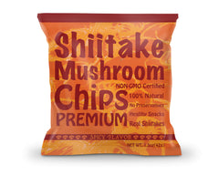 Yuguo Farms Shiitake Mushroom Chips, 1.5 oz, 12 pack, Spicy Flavor
