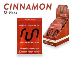 Run Gum Energy Cinnamon 12ct Box of Packets