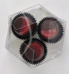 3 Piece Vegan Pomegranate Truffle