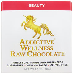 Addictive Wellness Raw Beauty Chocolate - Sugar-Free, Vegan, Paleo, Gluten-Free