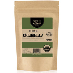 Herb Affair Organic Chlorella Cracked Cell Powder, One Pound (1 LB.) Package