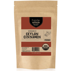 Herb Affair Organic Ceylon Cinnamon Powder, One Pound (1LB.) Package