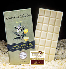 White Chocolate infused with Lemon Oil & Lemon Salt